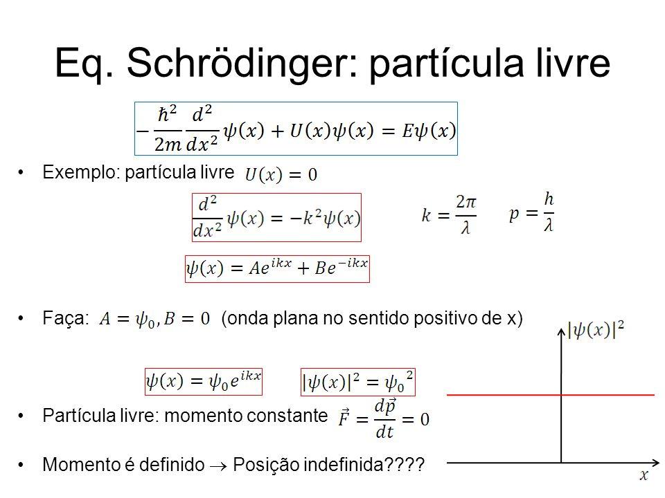 Eq. Schrödinger: partícula livre