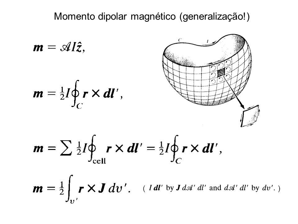 Momento dipolar magnético (generalização!)