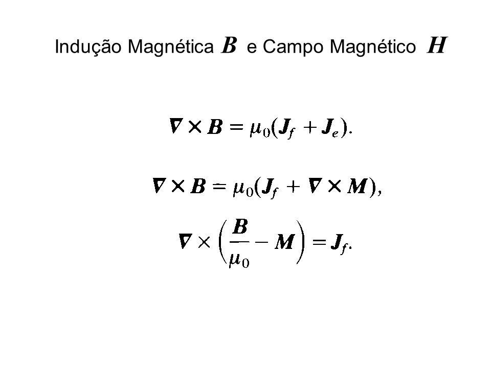Indução Magnética B e Campo Magnético H