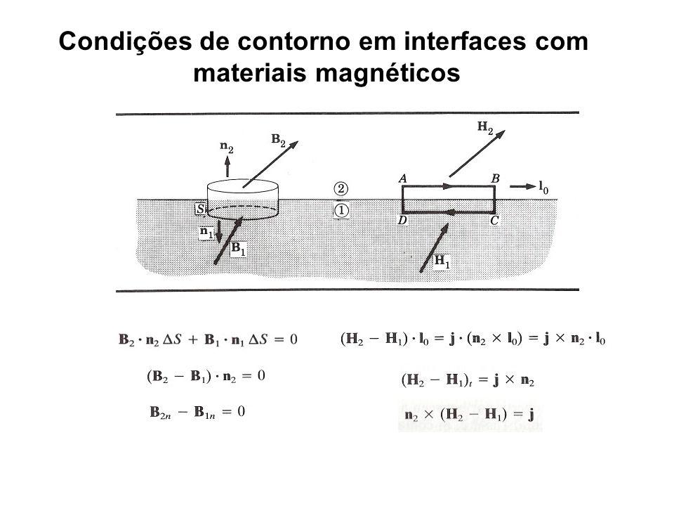 Condições de contorno em interfaces com