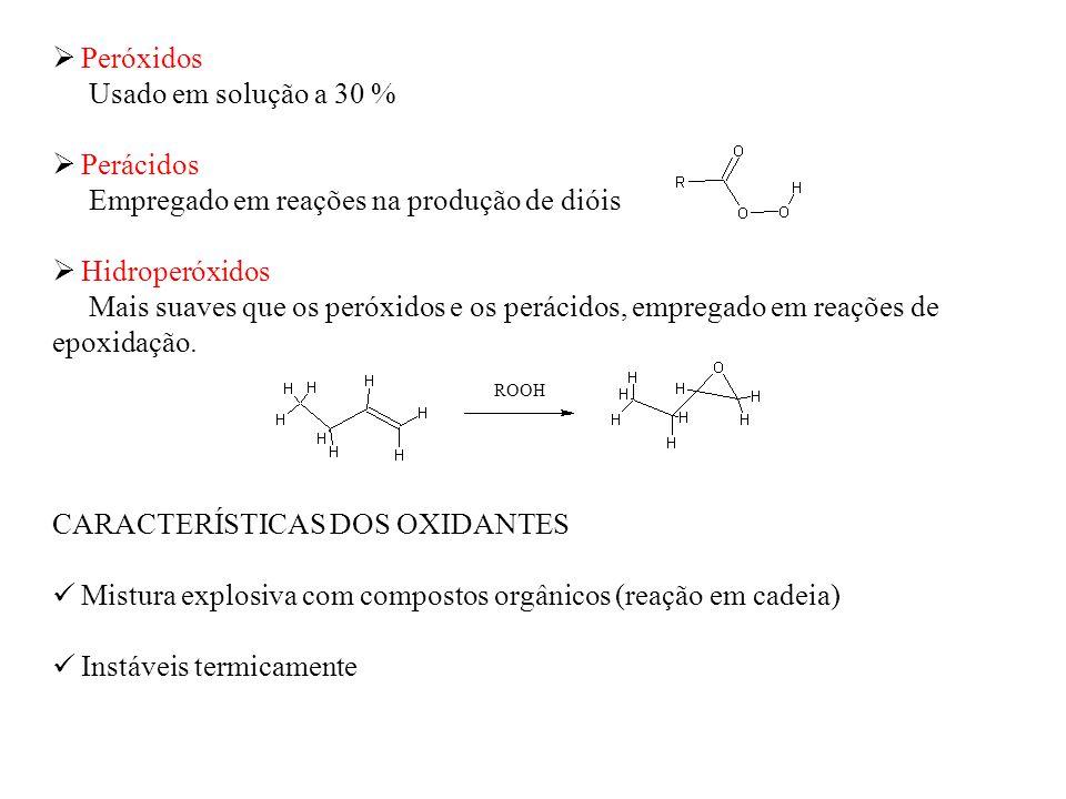 Empregado em reações na produção de dióis Hidroperóxidos
