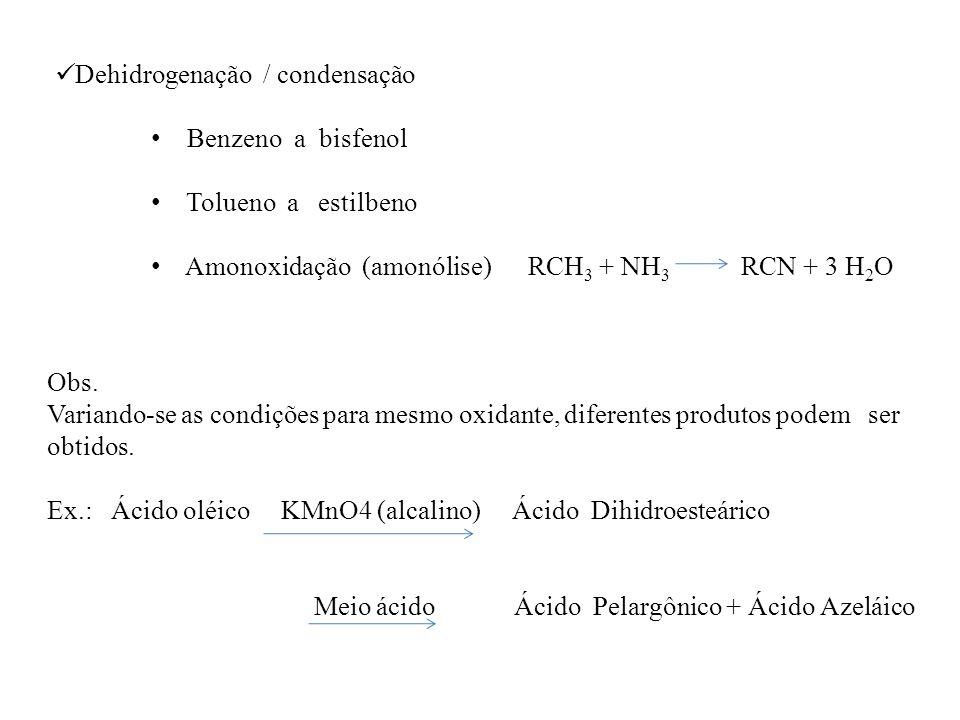 Dehidrogenação / condensação
