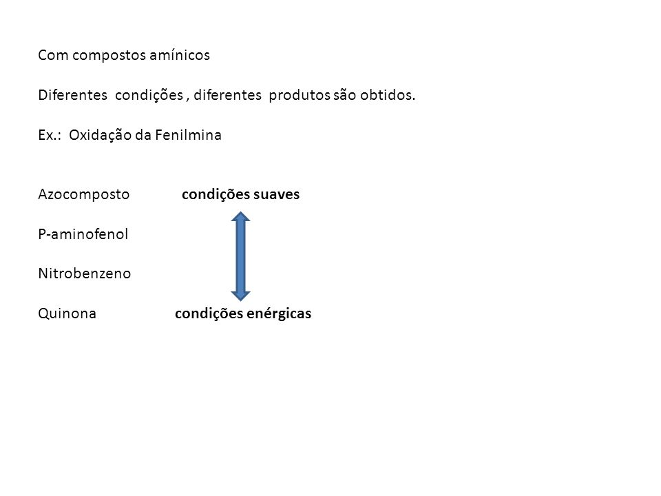 Com compostos amínicos