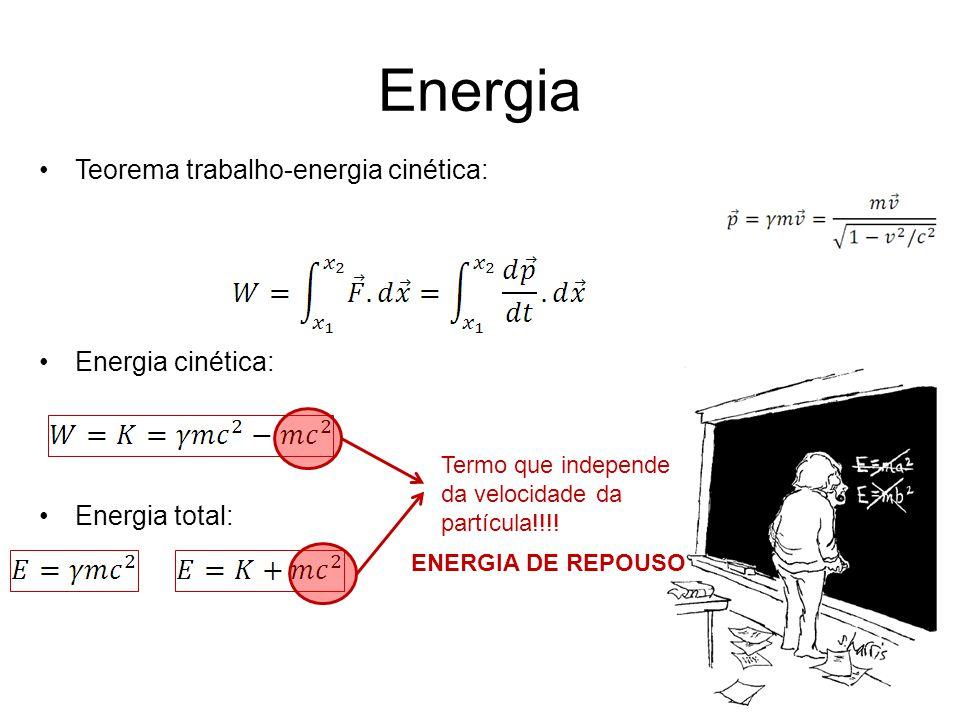 Energia Teorema trabalho-energia cinética: Energia cinética: