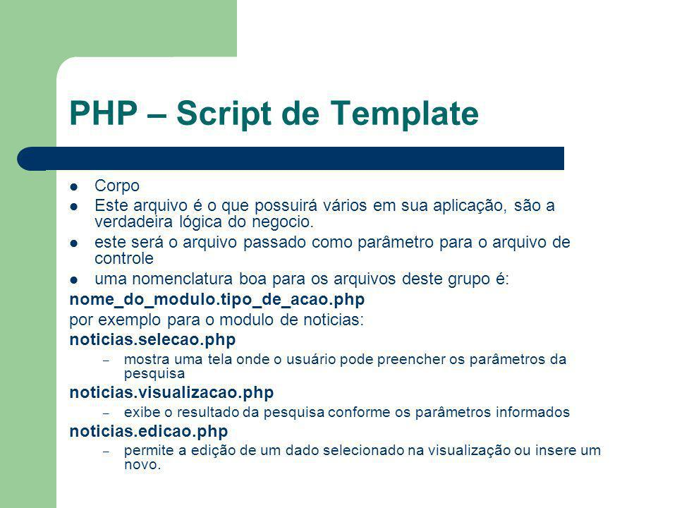 PHP – Script de Template