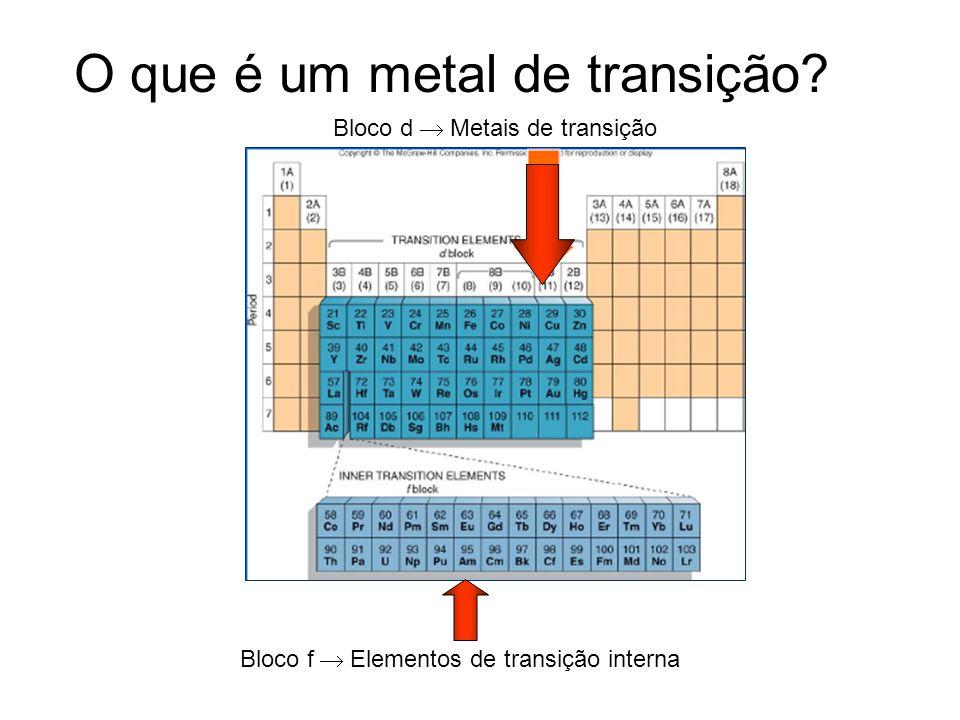 O que é um metal de transição