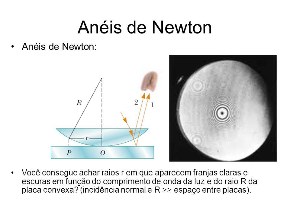 Anéis de Newton Anéis de Newton: