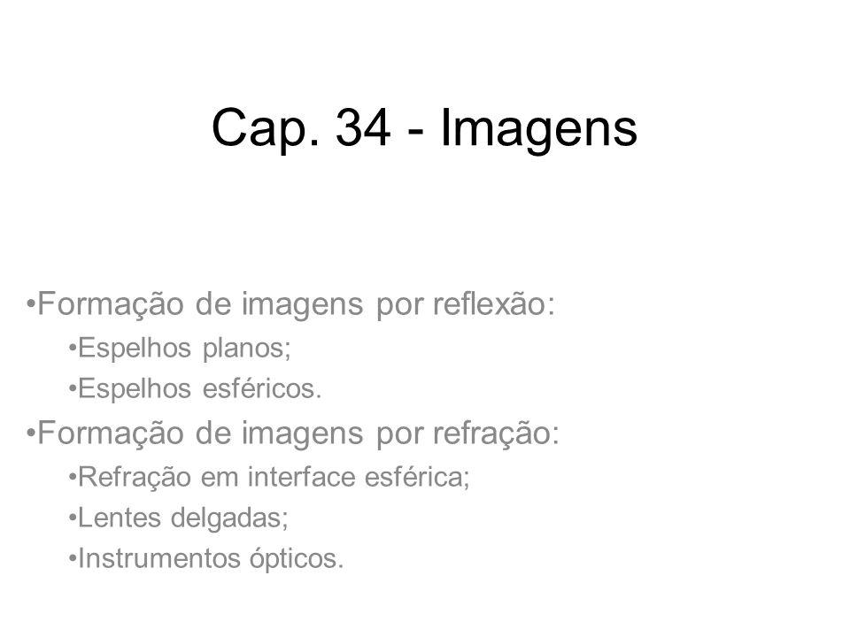 Cap. 34 - Imagens Formação de imagens por reflexão: