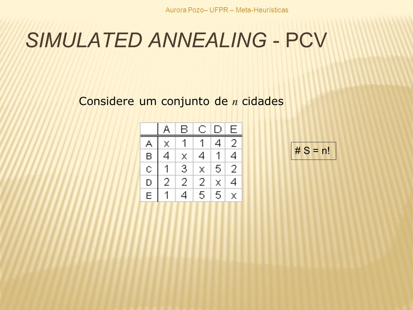SIMULATED ANNEALING - PCV