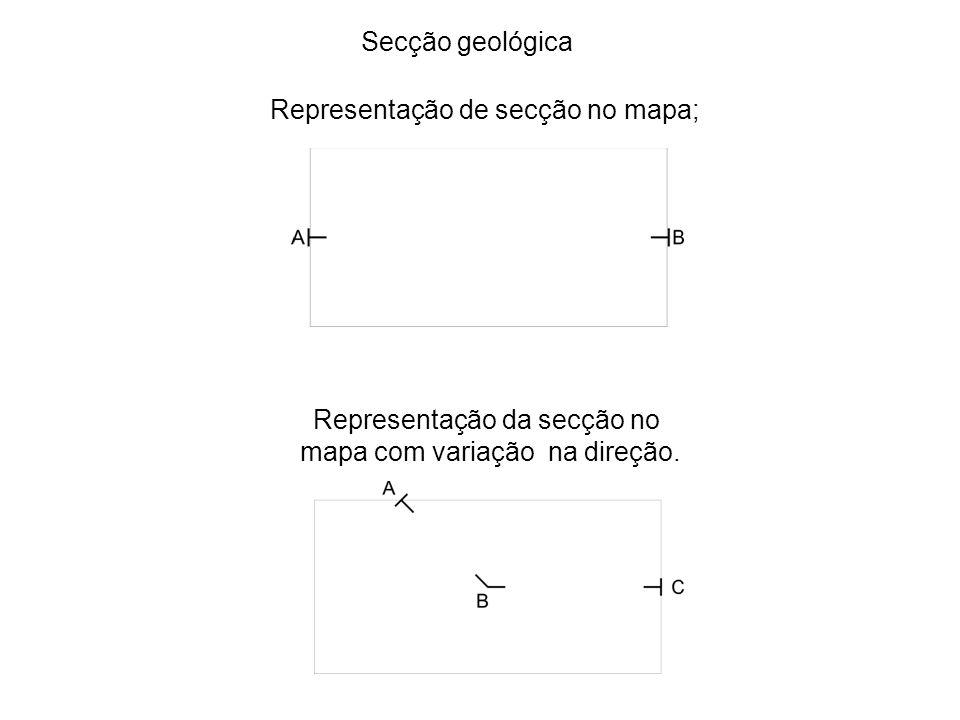 Representação de secção no mapa;