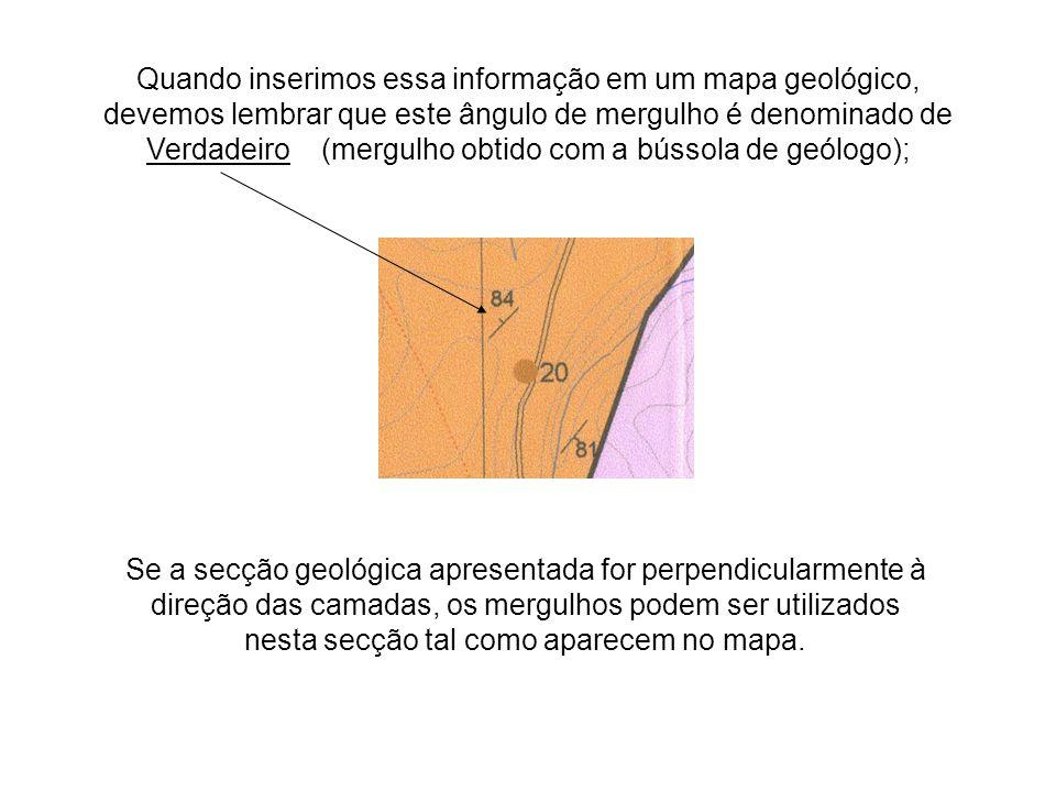 Quando inserimos essa informação em um mapa geológico,