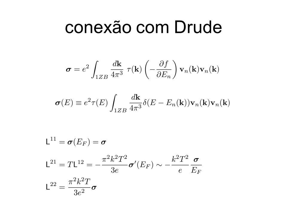 conexão com Drude correto em O(kT/EF)^2 (usando expansão de Sommerfeld)