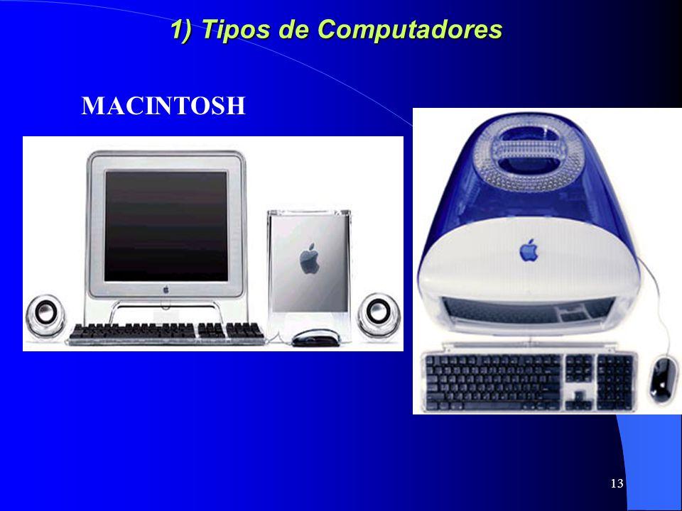 1) Tipos de Computadores