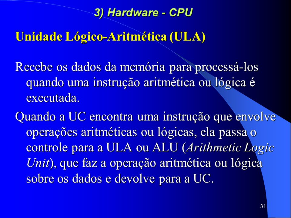 Unidade Lógico-Aritmética (ULA)