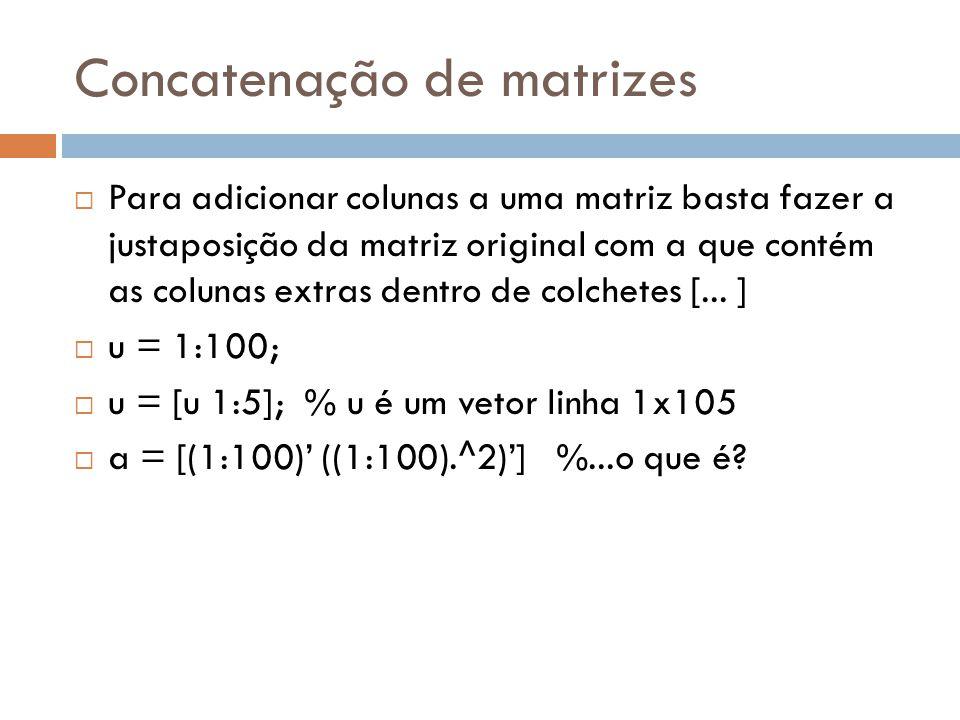 Concatenação de matrizes