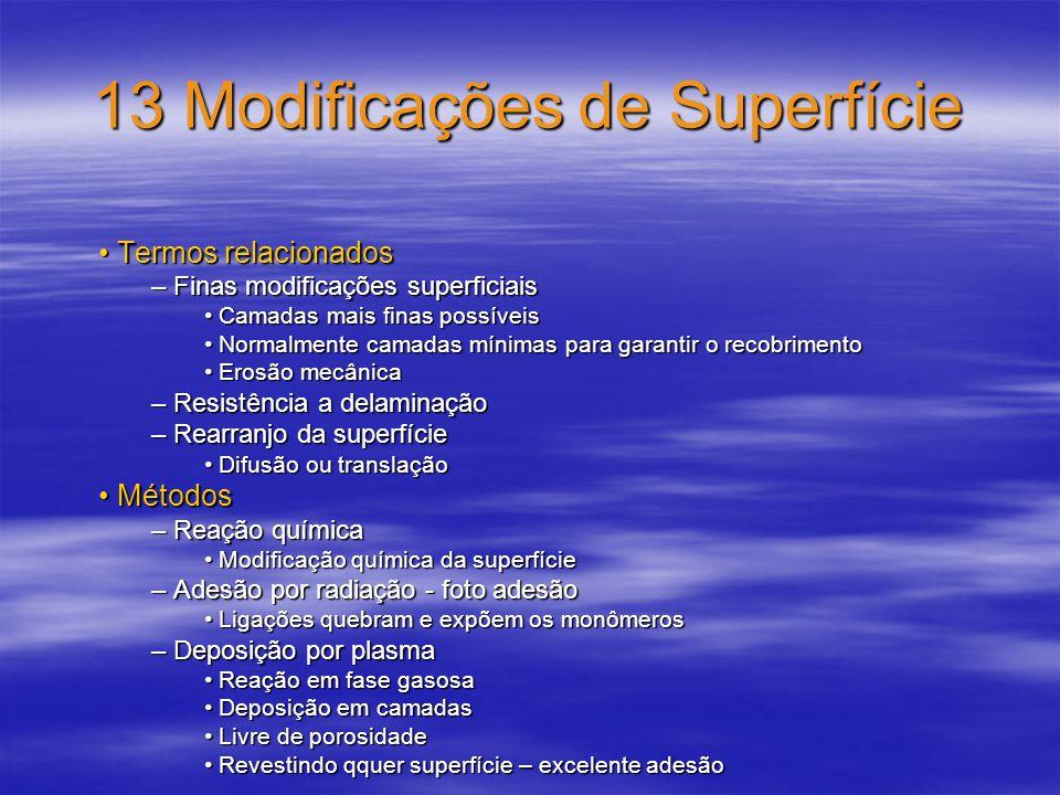 13 Modificações de Superfície