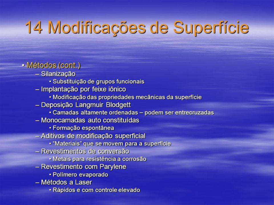 14 Modificações de Superfície