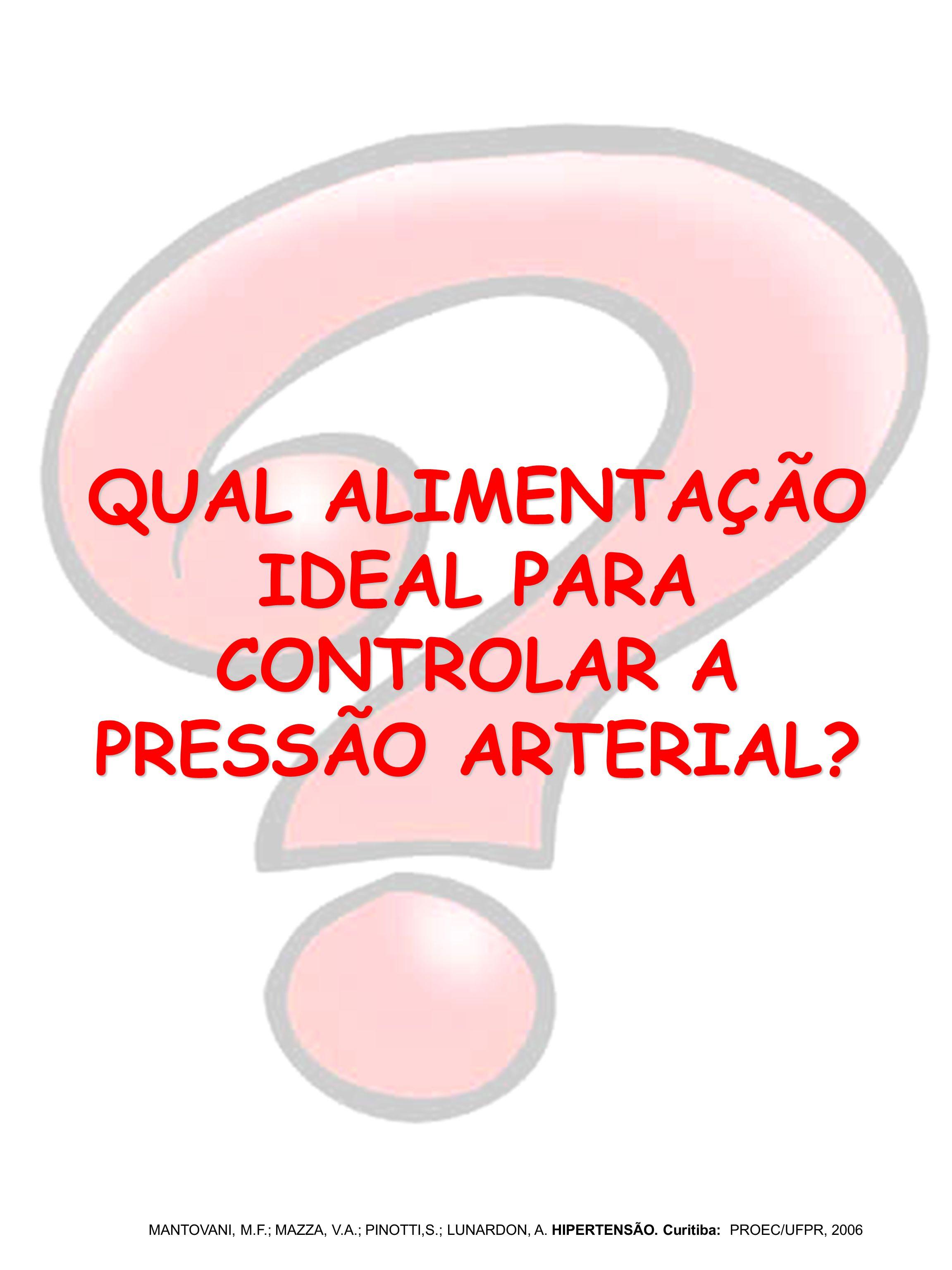 QUAL ALIMENTAÇÃO IDEAL PARA CONTROLAR A PRESSÃO ARTERIAL