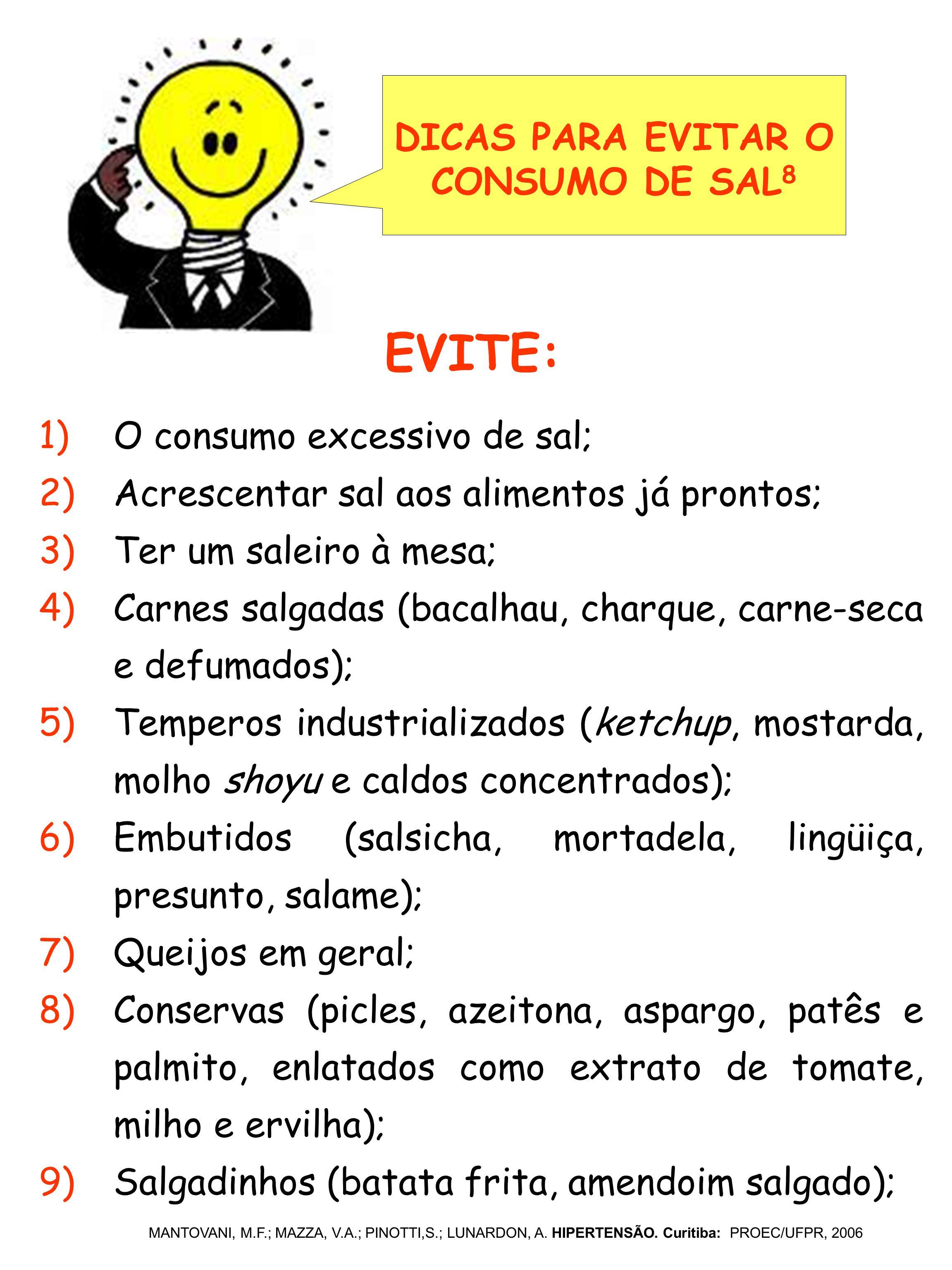 DICAS PARA EVITAR O CONSUMO DE SAL8