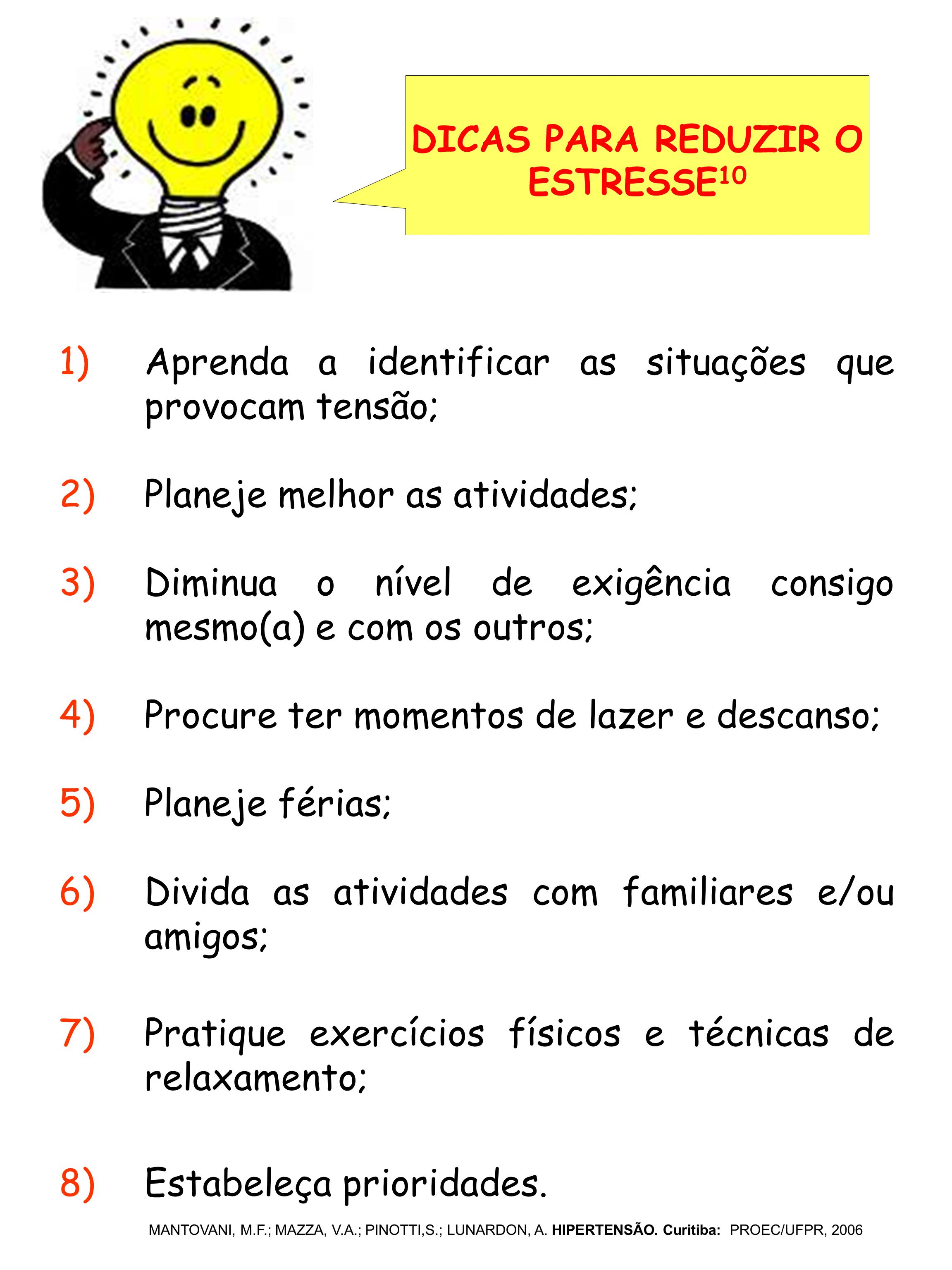DICAS PARA REDUZIR O ESTRESSE10