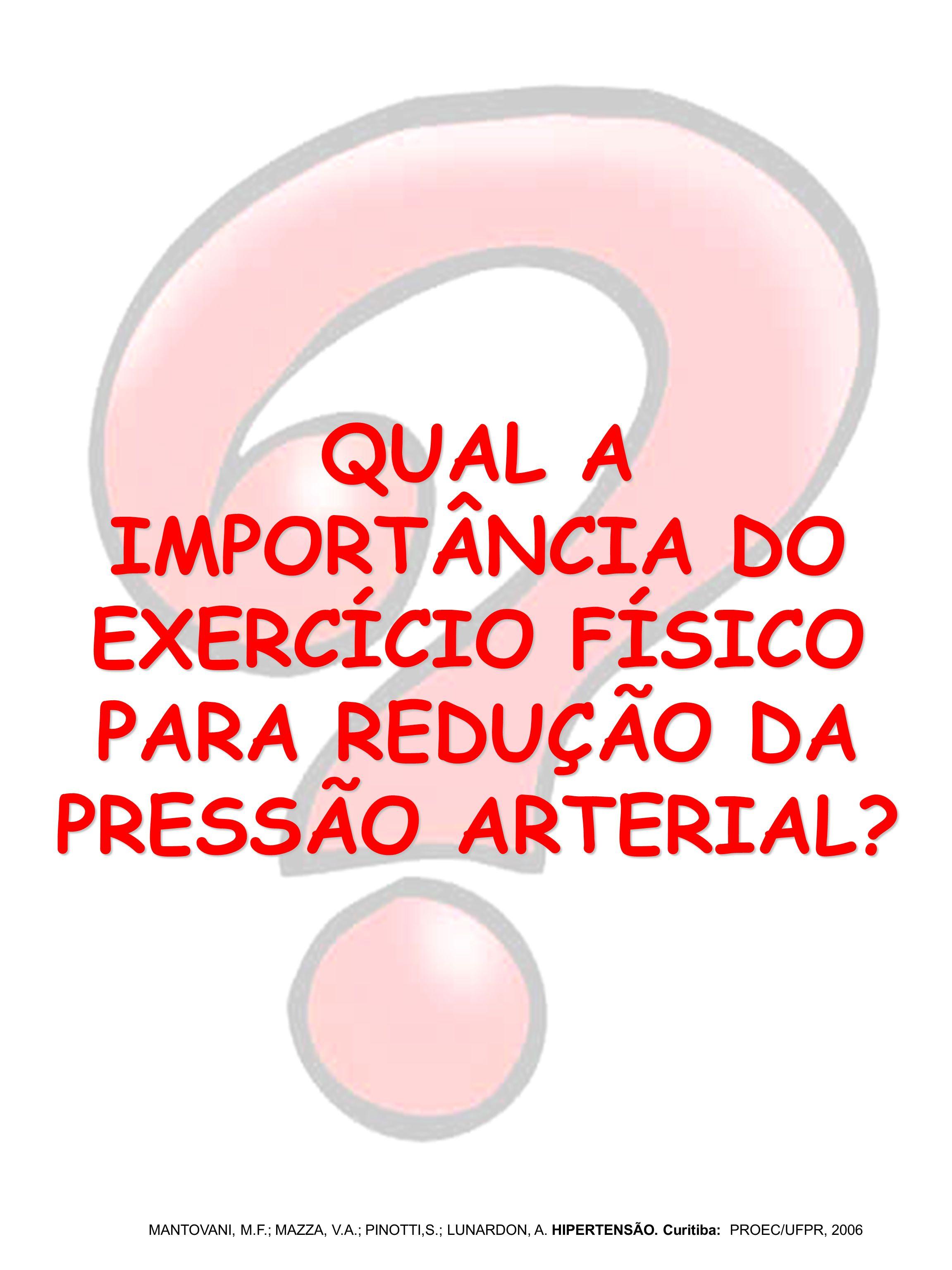 QUAL A IMPORTÂNCIA DO EXERCÍCIO FÍSICO PARA REDUÇÃO DA PRESSÃO ARTERIAL