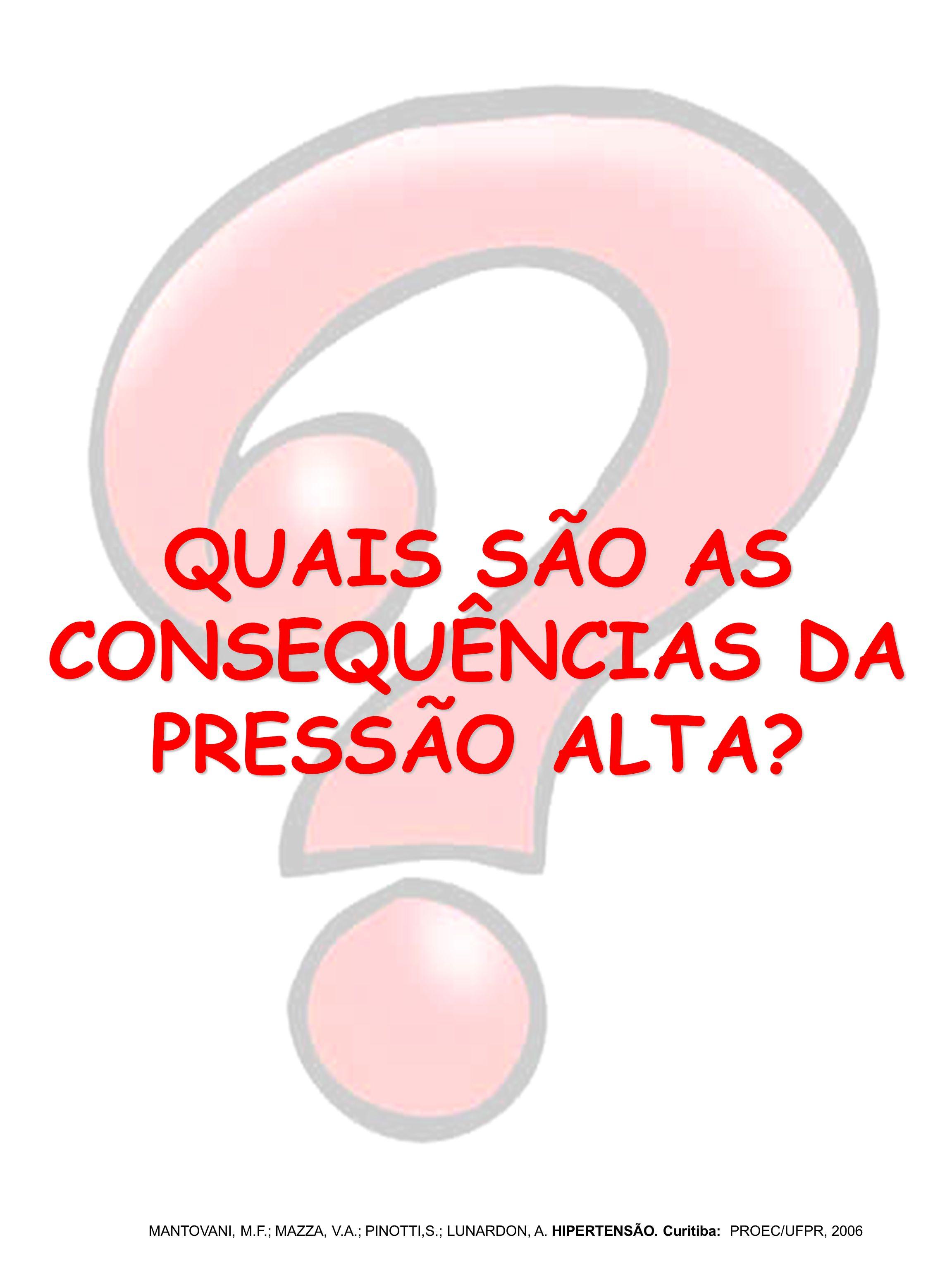 QUAIS SÃO AS CONSEQUÊNCIAS DA PRESSÃO ALTA