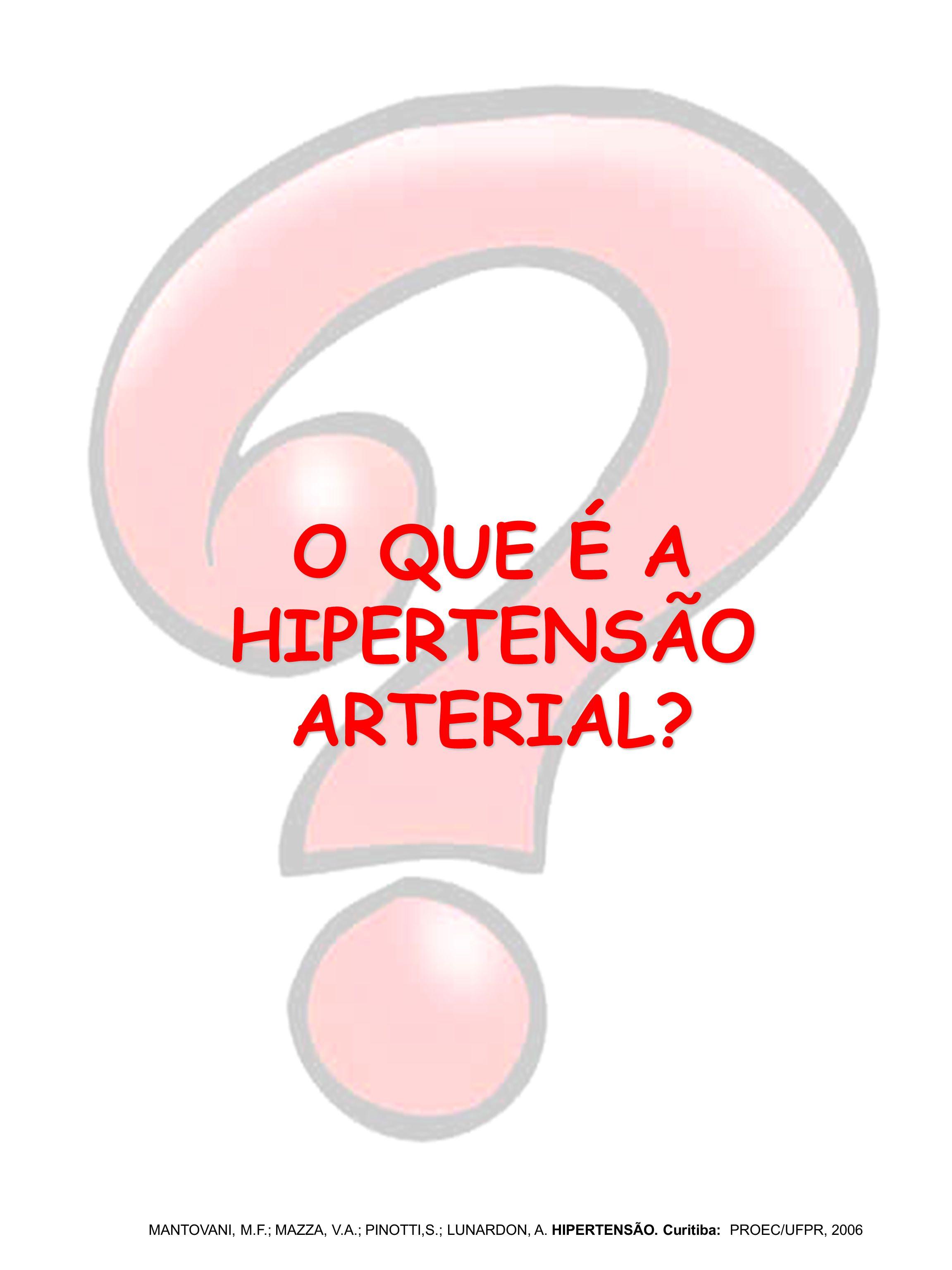 O QUE É A HIPERTENSÃO ARTERIAL