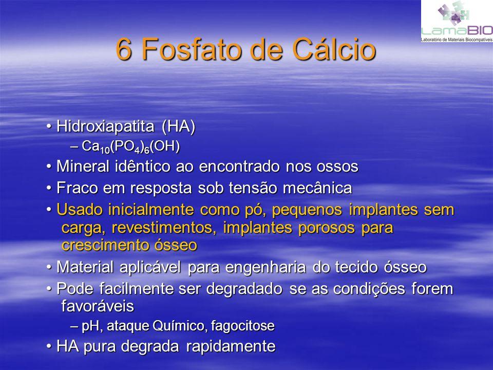 6 Fosfato de Cálcio • Hidroxiapatita (HA)