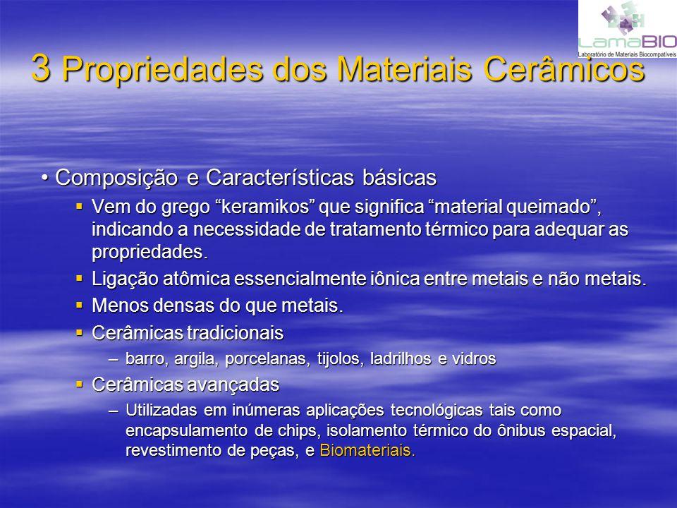 3 Propriedades dos Materiais Cerâmicos