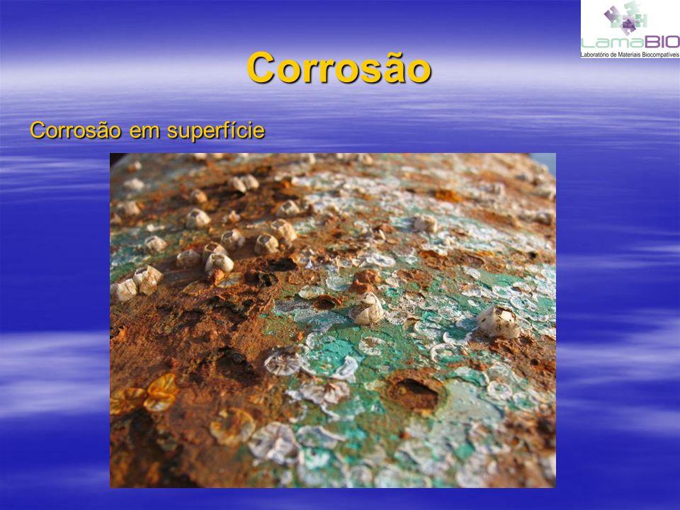 Corrosão Corrosão em superfície