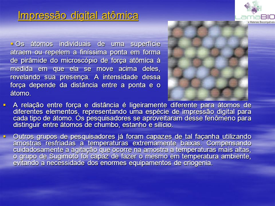 Impressão digital atômica