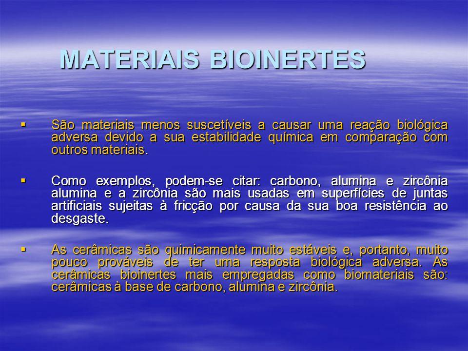 MATERIAIS BIOINERTES
