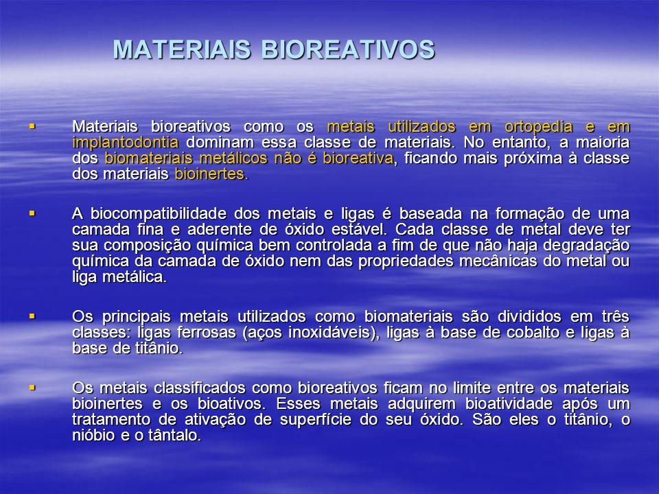 MATERIAIS BIOREATIVOS