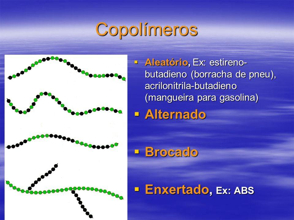 Copolímeros Alternado Brocado Enxertado, Ex: ABS