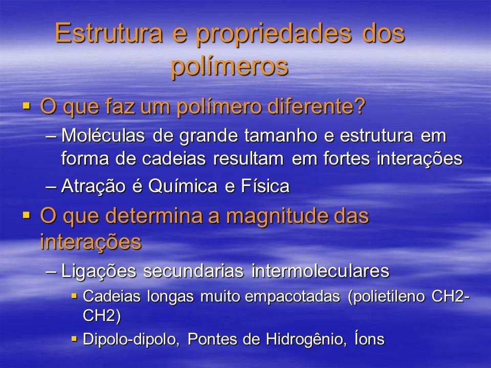 Estrutura e propriedades dos polímeros