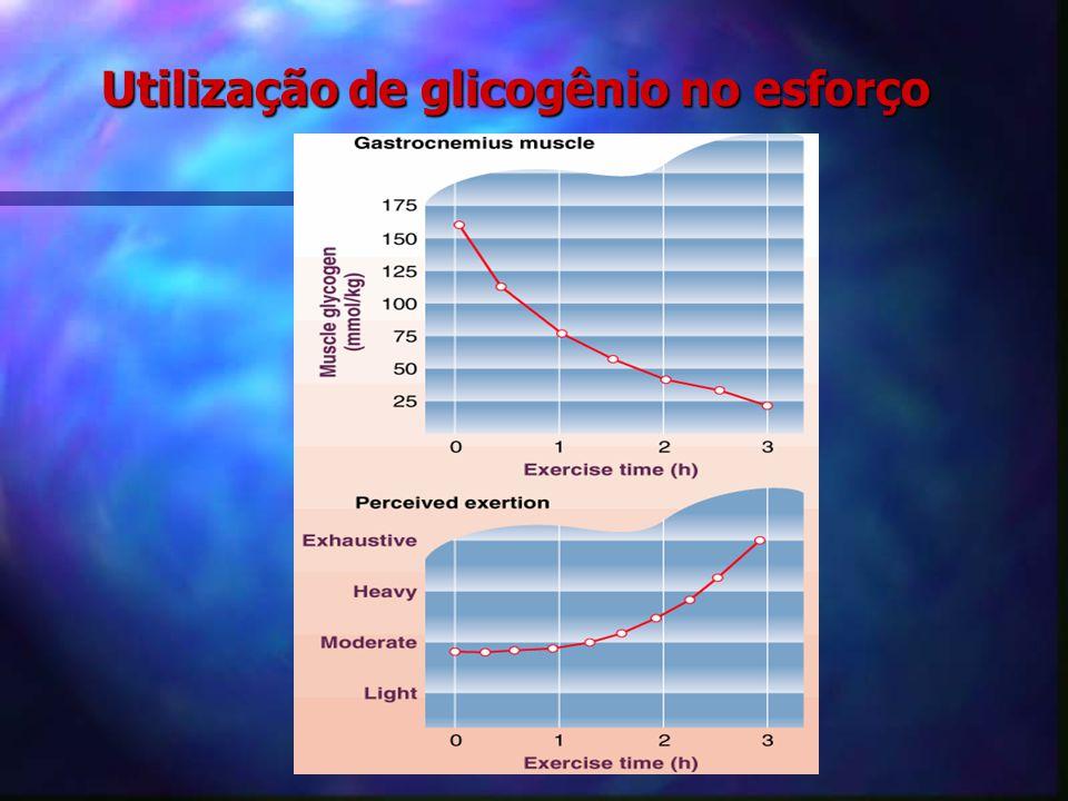 Utilização de glicogênio no esforço