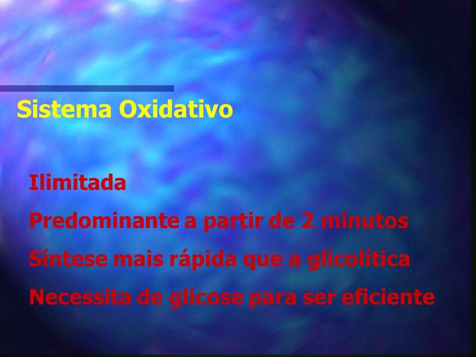 Sistema Oxidativo Ilimitada Predominante a partir de 2 minutos