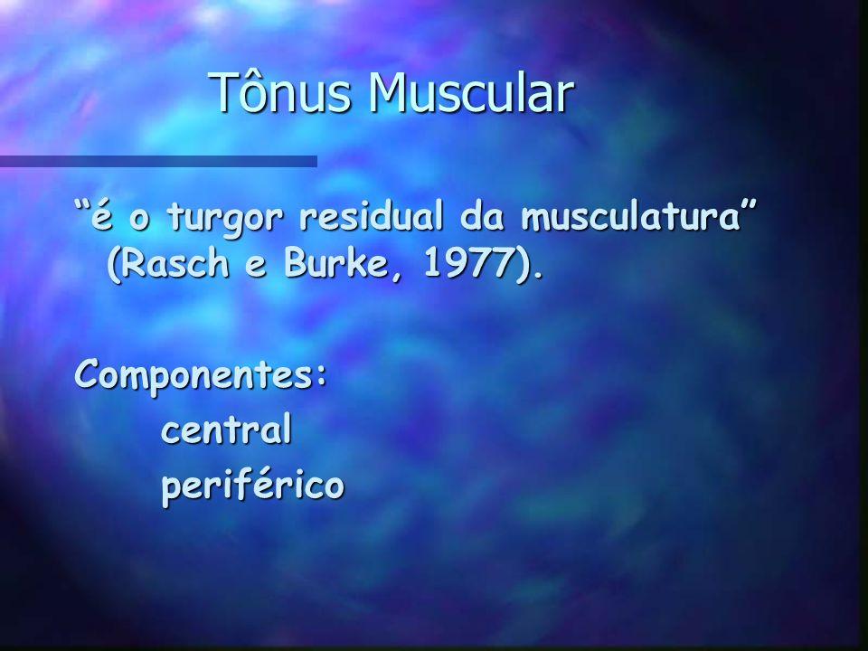 Tônus Muscular é o turgor residual da musculatura (Rasch e Burke, 1977).
