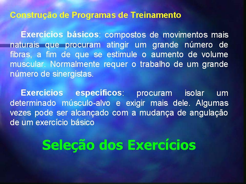 Seleção dos Exercícios