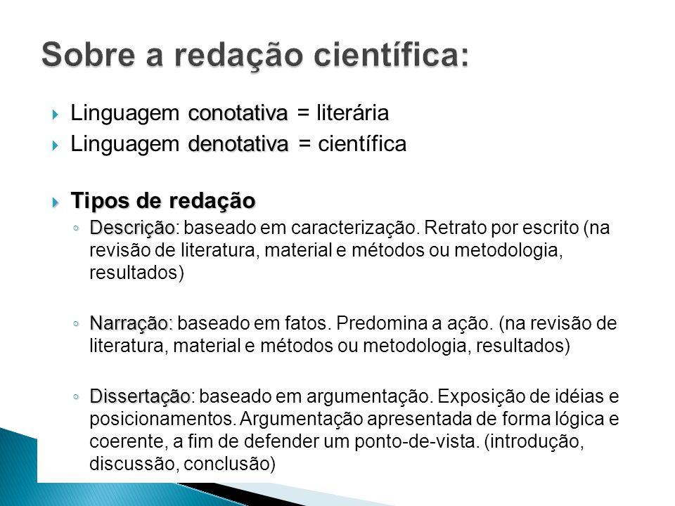 Sobre a redação científica:
