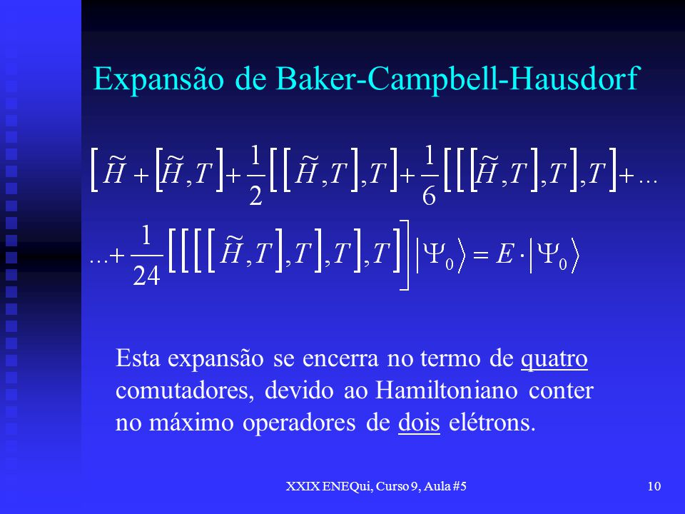 Expansão de Baker-Campbell-Hausdorf