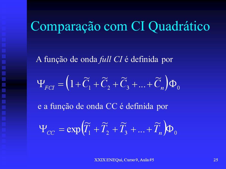 Comparação com CI Quadrático
