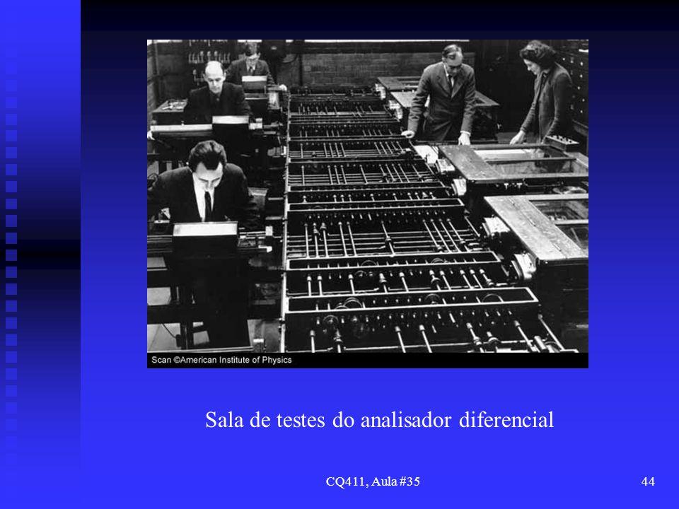 Sala de testes do analisador diferencial