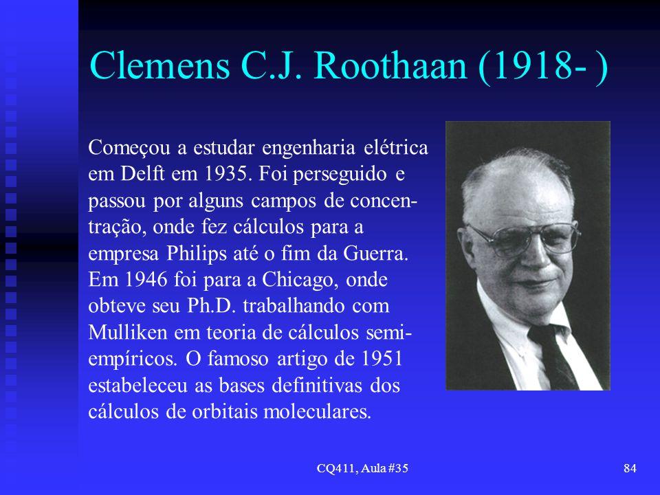 Clemens C.J. Roothaan (1918- )