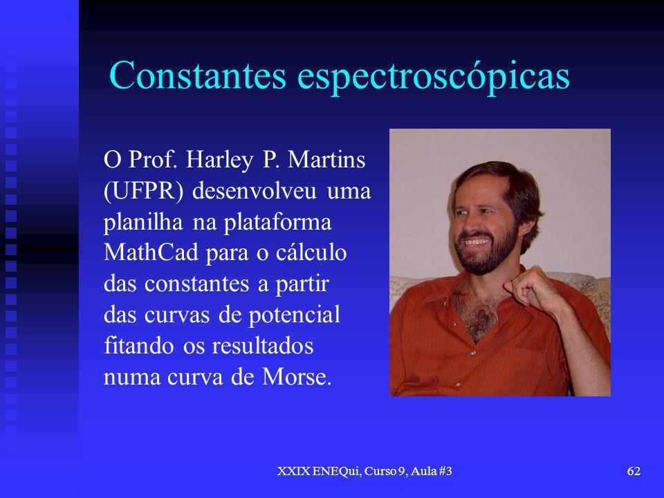 Constantes espectroscópicas