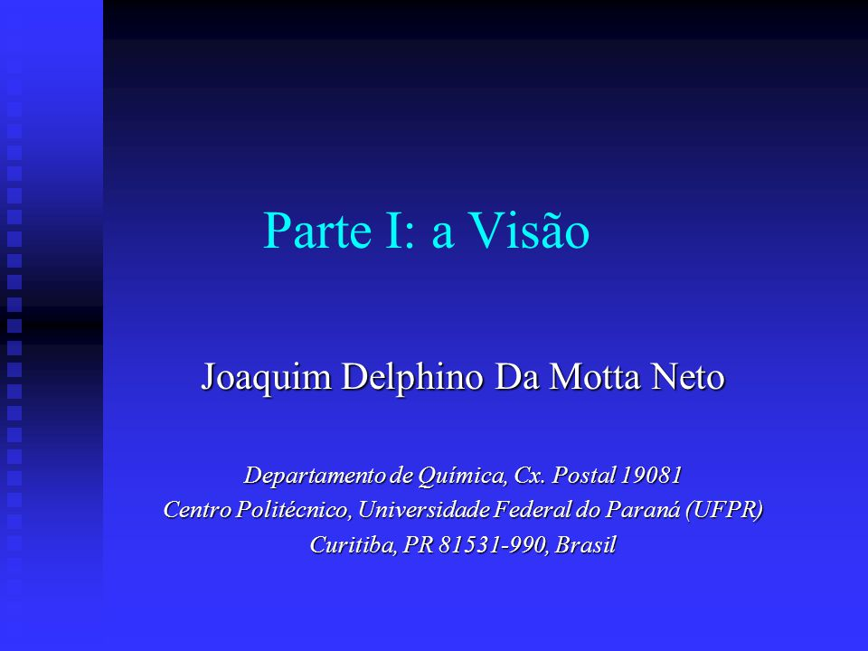 Parte I: a Visão Joaquim Delphino Da Motta Neto