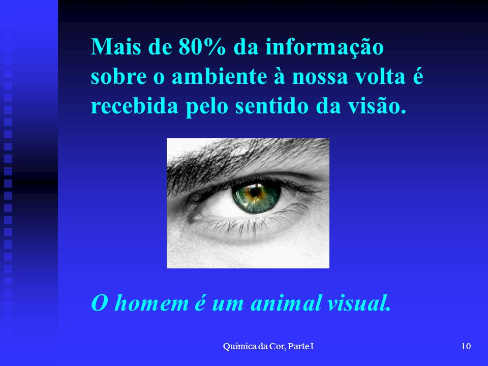 O homem é um animal visual.
