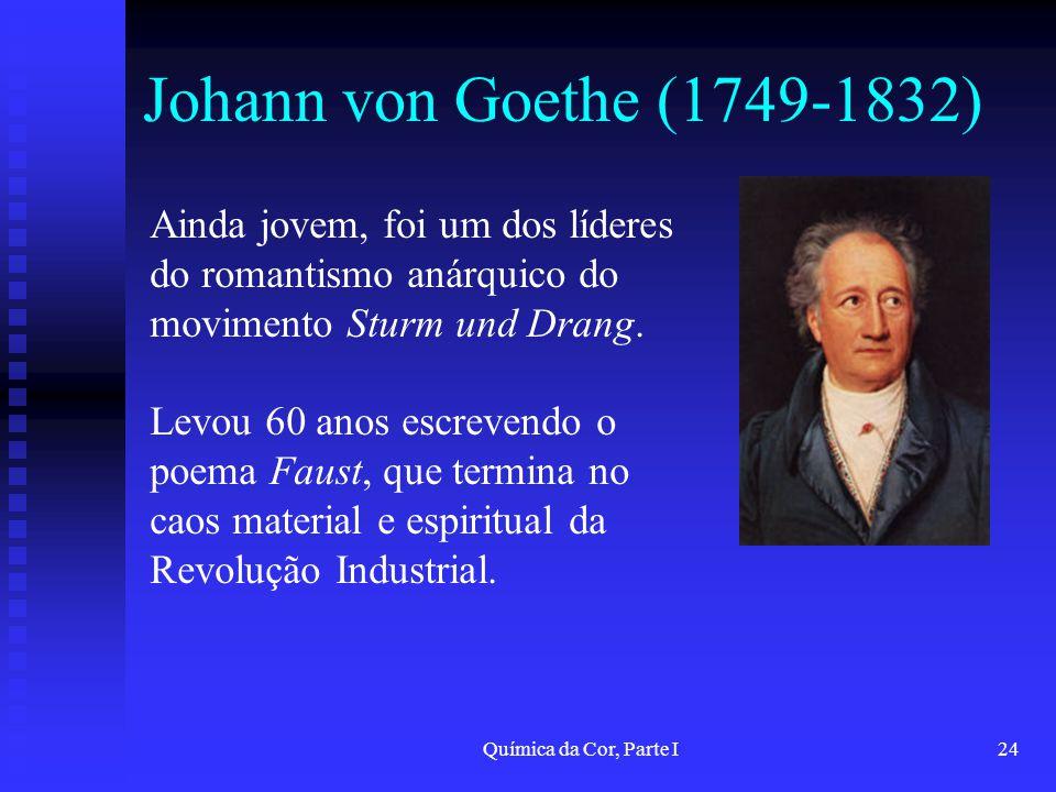Johann von Goethe (1749-1832) Ainda jovem, foi um dos líderes do romantismo anárquico do movimento Sturm und Drang.