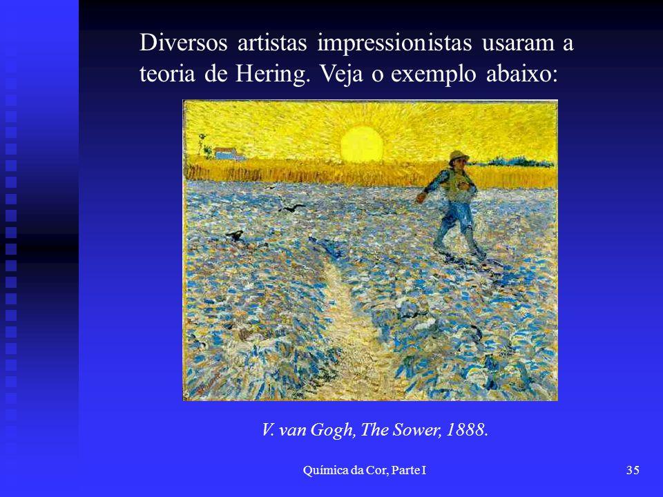 Diversos artistas impressionistas usaram a teoria de Hering