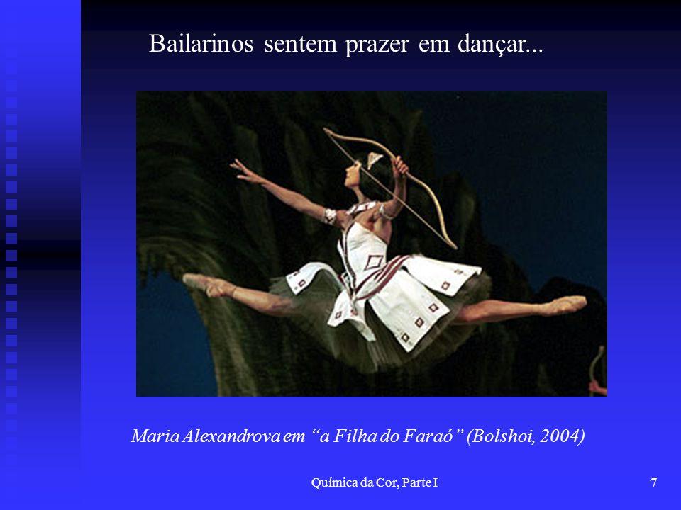 Bailarinos sentem prazer em dançar...